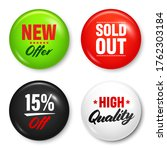realistic badges with text.... | Shutterstock .eps vector #1762303184