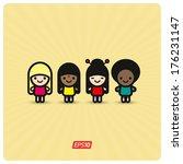 multicultural friendship | Shutterstock .eps vector #176231147