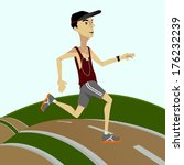 running and jogging man   male... | Shutterstock .eps vector #176232239