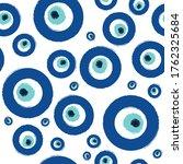 blue and white t rkish evil eye ...   Shutterstock .eps vector #1762325684