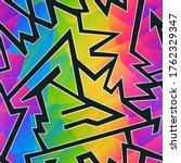 rainbow color geometric... | Shutterstock .eps vector #1762329347