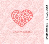 card with heart | Shutterstock .eps vector #176233055