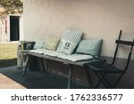 Rustic Wooden Bench With...