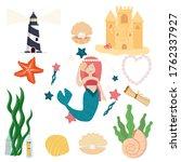 vector set on the marine theme. ...   Shutterstock .eps vector #1762337927