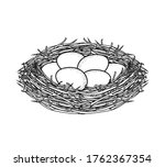 Vector Illustration Of A Nest...