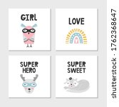 set of children's posters with...   Shutterstock .eps vector #1762368647