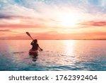 Sea Kayaking In Calm Waters...