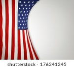 closeup of american flag on... | Shutterstock . vector #176241245