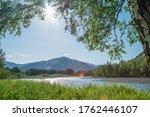 summer day on a mountain river  ... | Shutterstock . vector #1762446107