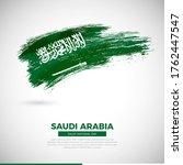 happy national day of saudi...   Shutterstock .eps vector #1762447547
