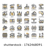 set of electric vehicle thin... | Shutterstock .eps vector #1762468091