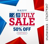 4th of july star sales poster... | Shutterstock .eps vector #1762479347