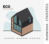 luxury modern houses. isometric ...   Shutterstock .eps vector #1762519211