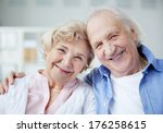 portrait of senior couple... | Shutterstock . vector #176258615