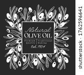 hand drawn olive design... | Shutterstock .eps vector #1762596641