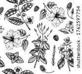 Herbal Tea Seamless Pattern....