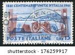 italy   circa 1961  stamp... | Shutterstock . vector #176259917