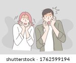 men and women are afraid of...   Shutterstock .eps vector #1762599194
