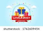 giveaway banner template design ...   Shutterstock .eps vector #1762609454