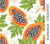 exotic summer seamless pattern. ... | Shutterstock .eps vector #1762619357