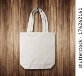 white cotton bag hanging on a... | Shutterstock . vector #176262161