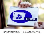 Hand Drawing Gdpr Concept On A...