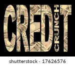 credit crunch text with... | Shutterstock . vector #17626576