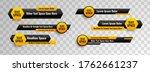 lower third design template... | Shutterstock .eps vector #1762661237
