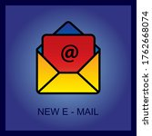 outline email icon isolated on...