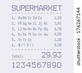 supermarket bill font | Shutterstock .eps vector #176267144