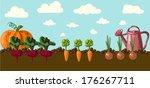 vintage garden banner | Shutterstock .eps vector #176267711