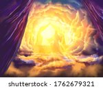 Jesus our Intercessor and Advocate, a depiction of Hebrews prophecy, religious illustration imagery