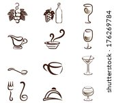 drink and food icons | Shutterstock .eps vector #176269784