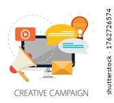 advertising and marketing... | Shutterstock .eps vector #1762726574