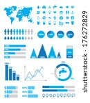 set of infographics elements | Shutterstock .eps vector #176272829