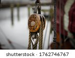 Winch Of An Old Sail Boat