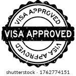 grunge black visa approved word ... | Shutterstock .eps vector #1762774151