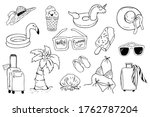 set of summer things for the... | Shutterstock .eps vector #1762787204
