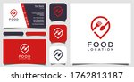 food location logo design  with ...   Shutterstock .eps vector #1762813187