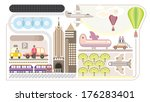 airport   isolated vector... | Shutterstock .eps vector #176283401