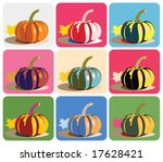 vector drawing of pumpkin with... | Shutterstock .eps vector #17628421