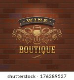wine boutique   vintage... | Shutterstock .eps vector #176289527