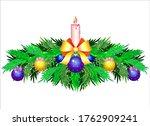 christmas decor for banner or...   Shutterstock .eps vector #1762909241