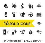 environment icons set with go...