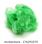 Crumpled Garbage Bag Isolated...