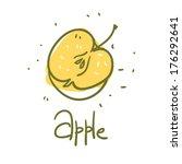 doodle sketchy food simple... | Shutterstock .eps vector #176292641