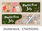 plastic free july zero waste... | Shutterstock .eps vector #1762932341