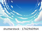 blue sky with white clouds... | Shutterstock .eps vector #1762960964