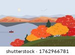 autumn nature landscape.... | Shutterstock .eps vector #1762966781