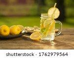 Homemade Lemonade With Lemon...